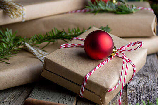 Uniquely wrapped presents