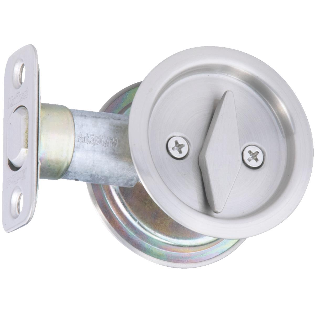National Privacy Satin Nickel Pocket Door Lock Pull Sun City Hardware