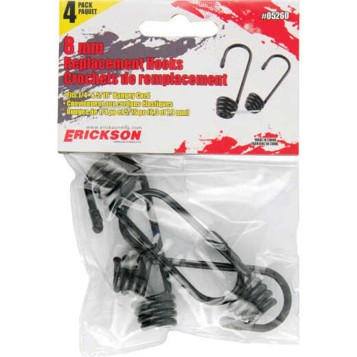 Erickson 8mm Metal Cord Hook