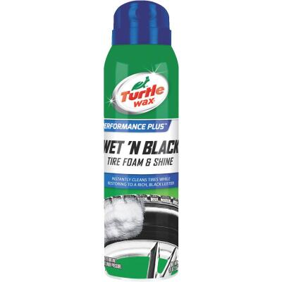 Turtle Wax Wet 'N Black 18 Oz. Aerosol Spray Foam Tire Shine