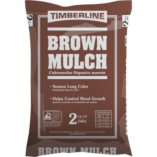 Timberline 2 Cu. Ft. Dyed Brown Shredded Hardwood Mulch
