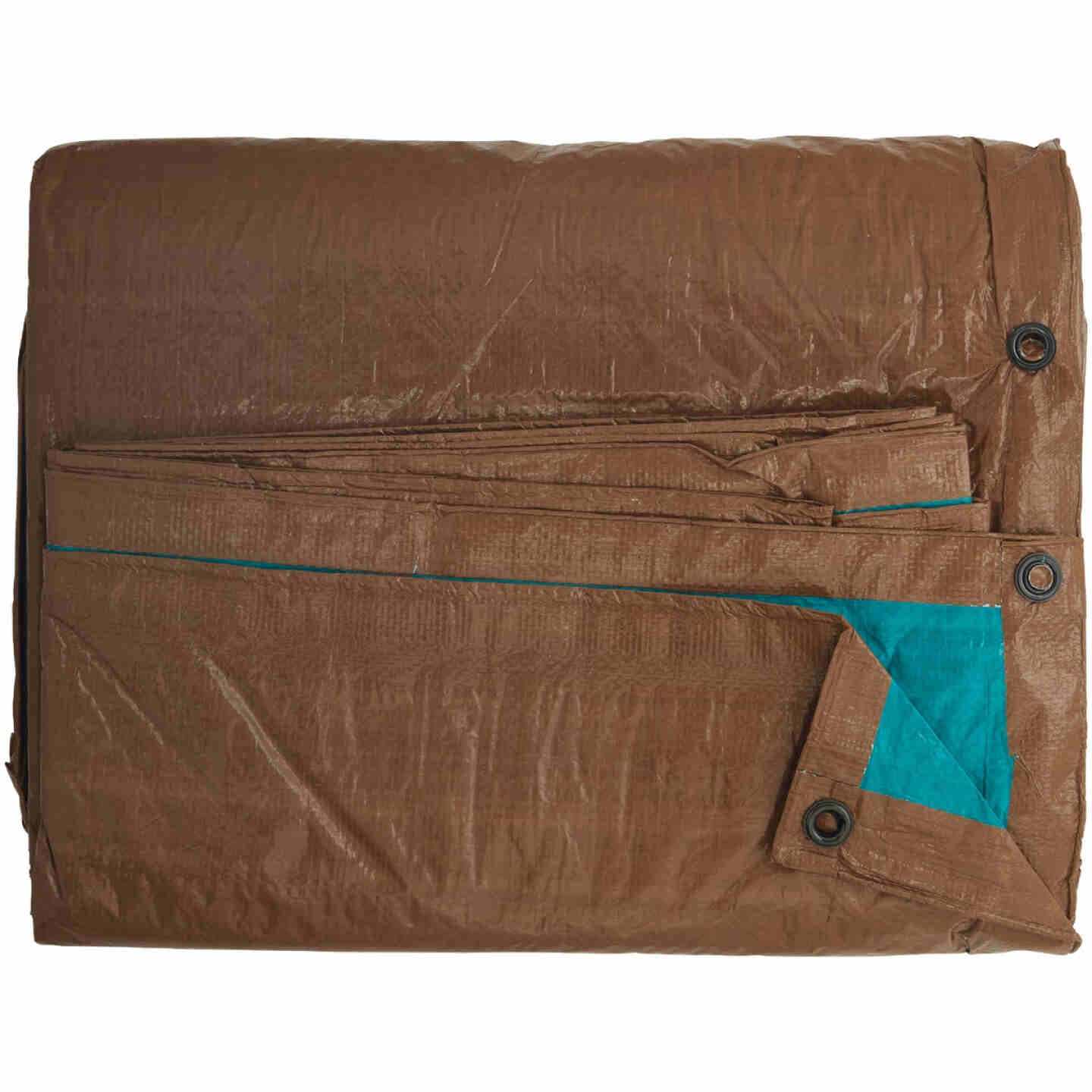 Do it Best 1 Side Green/1 Side Brown Woven 20 Ft. x 30 Ft. Medium Duty Poly Tarp Image 3