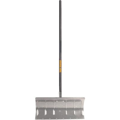 True Temper 24 In. Aluminum Snow Pusher with 48 In. Wood Handle