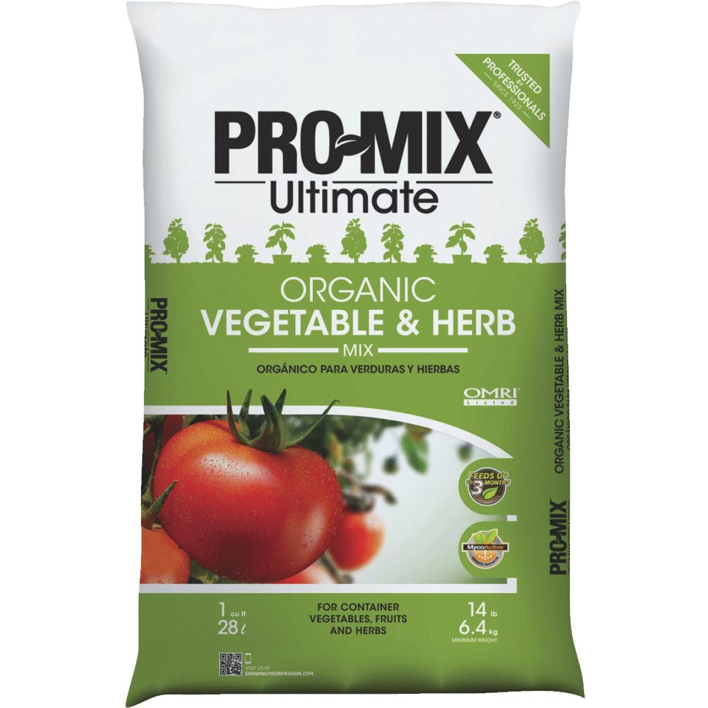 Pro Mix Ultimate 1 Cu. Ft. 14-1/2 Lb. Container Vegetables & Herbs Garden Soil Image 1