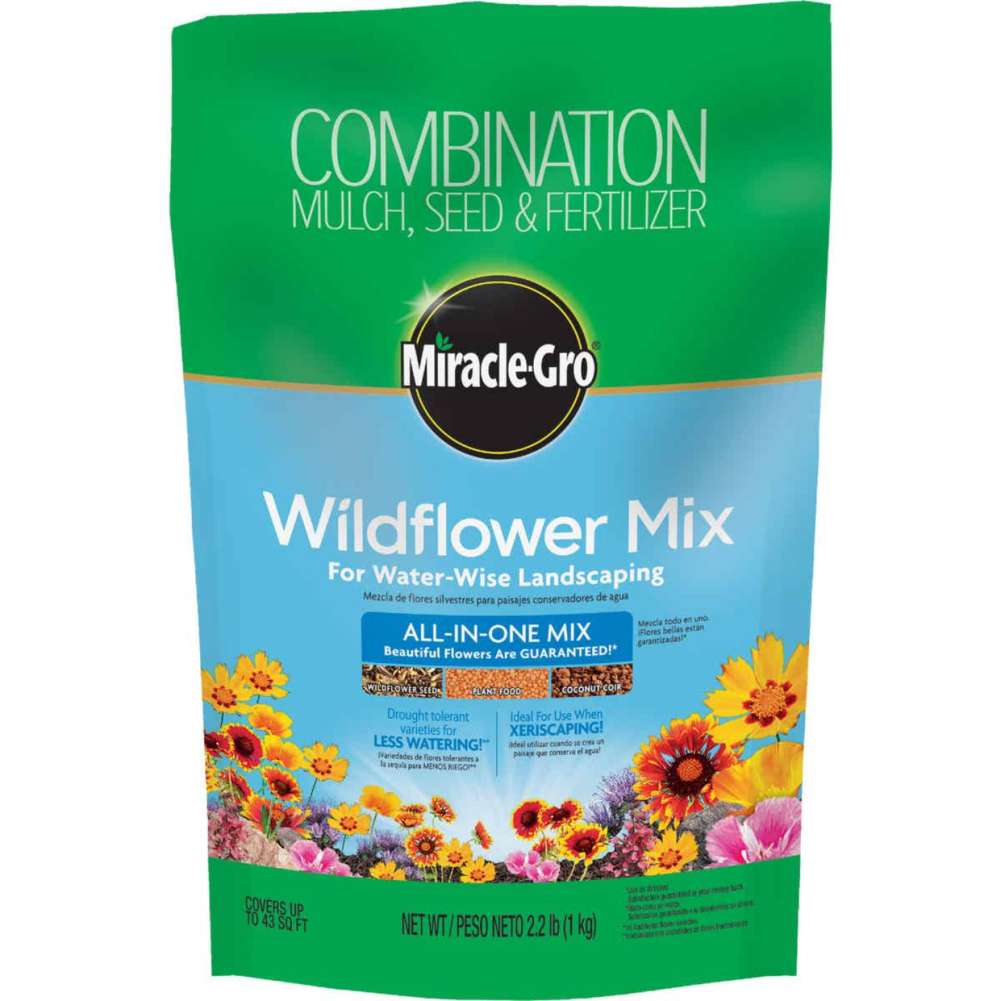 Miracle-Gro All-In-One 2.2 Lb. 43 Sq. Ft. Coverage Wildflower Seed Mix Image 1