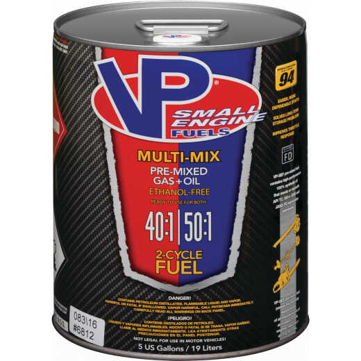 VP Small Engine Fuels 5 Gal. 40:1/50:1 Ethanol-Free Multi-Mix Gas & Oil Pre-Mix