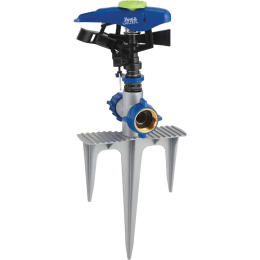 Best Garden Poly & Metal 5800 Sq. Ft. Triple Spike Impulse Sprinkler
