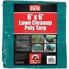Do it Best  6 Ft. x 6 Ft. Poly Fabric Green Lawn Cleanup Tarp Image 2