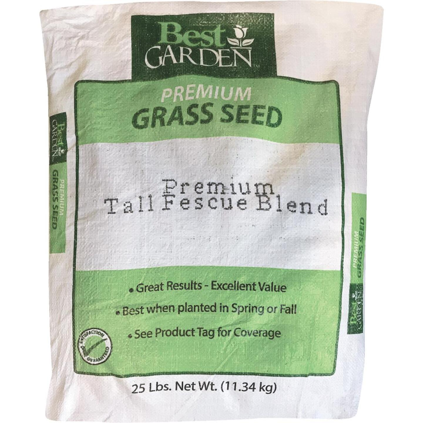 Best Garden 25 Lb. 4500 Sq. Ft. Coverage Sun to Partial Shade Grass Seed Image 1