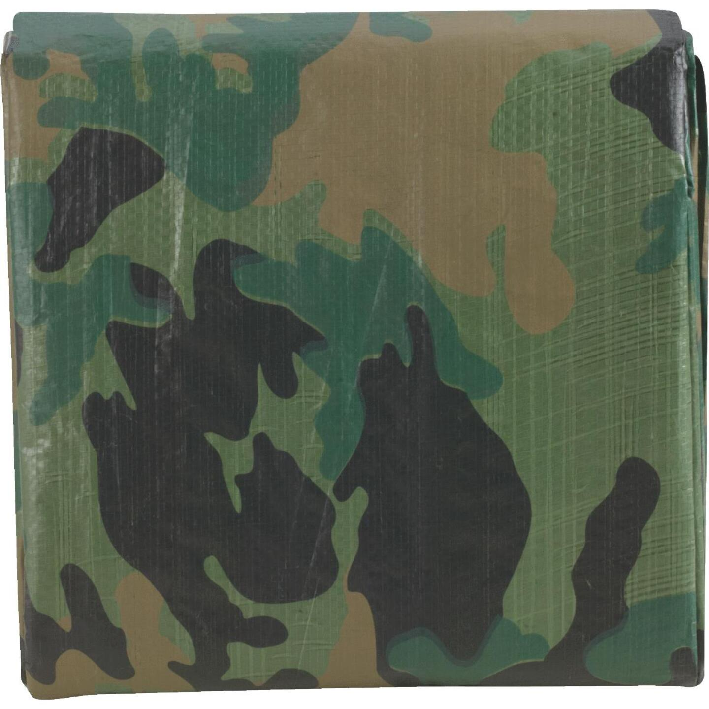 Do it Best Camo Woven 8 Ft. x 10 Ft. Medium Duty Poly Tarp Image 2