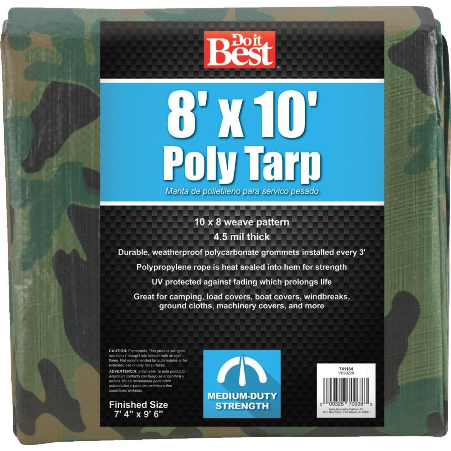 Do it Best Camo Woven 8 Ft. x 10 Ft. Medium Duty Poly Tarp Image 4