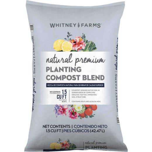 Whitney Farms Natural Premium 1.5 Cu. Ft. 31-1/2 Lb. Lawn & Garden Compost