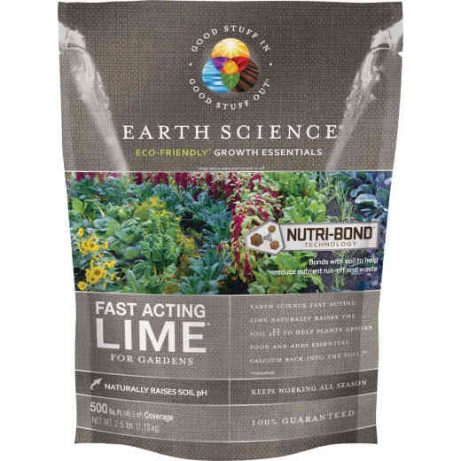 Earth Science Fast Acting 2.5 Lb. 500 Sq. Ft. Coverage Lime