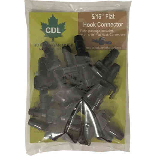 CDL 5/16 In. Maple Line Flat Connector (12-Pack)