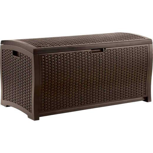 Suncast 99 Gal. Resin Wicker Java Deck Box
